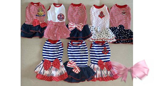 Платье морячка горох