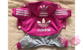 Спортивный костюм с начесом Adidas малиновый