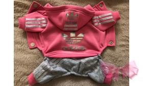 Спортивный костюм с начесом Adidas розовый