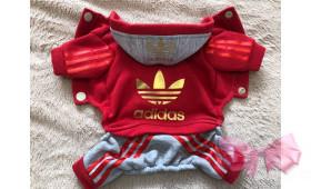 Спортивный костюм с начесом Adidas красный
