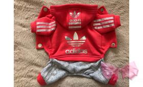 Спортивный костюм с начесом Adidas кораловый