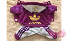 Спортивный костюм с начесом Adidas фуксия
