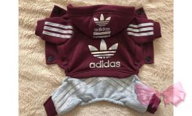Спортивный костюм Adidas (бордовый)