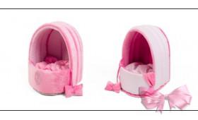 """Лежак """"Polka"""" розовый"""
