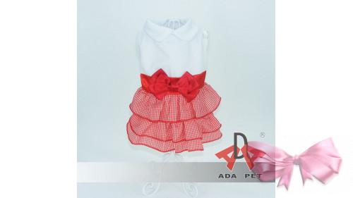 Платье красная рюша
