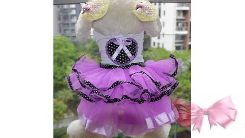 Платье фиолет сердце