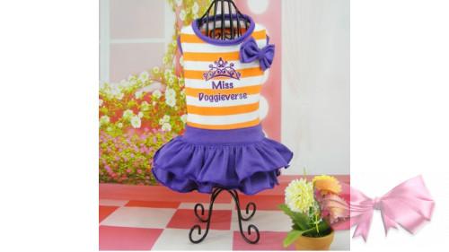 Платье оранжевая полоска