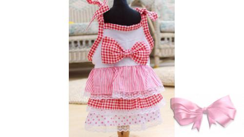 Платье розовое с бантиком