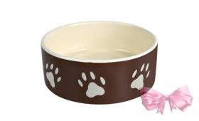 Миска керамическая для собак с лапками