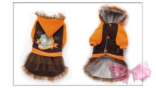 Куртка-платье оранжевая