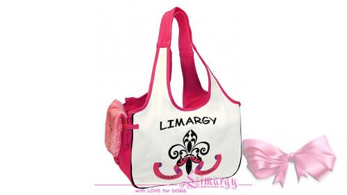 """Сумка """"Limargy"""" бежевая с розовым"""