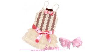Платье 'Mesh-line' мол/роз