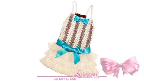 Платье 'Mesh-line' мол/гол