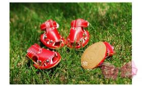 Сандали красные