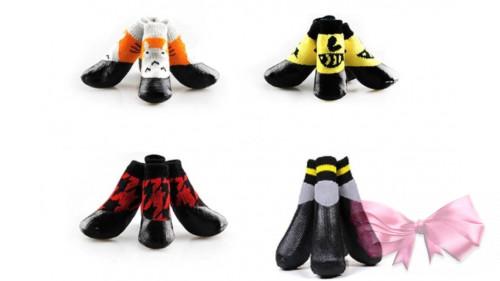 Носочки с резиновой подошвой