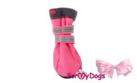 Сапоги ForMyDogs для собак на флисе розовые