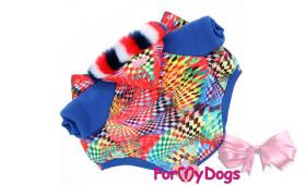 Куртка для собак For My Dogs для мальчиков и девочек (яркая)