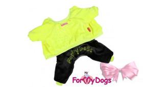 Утепленный костюм For My Dogs (салатовый)
