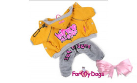 Спортивный костюм для собак ForMyDogs Street Art желтый мальчик