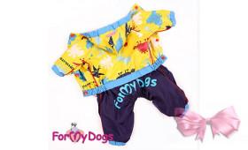 Дождевик для собак на шелковой подкладке, для мальчика