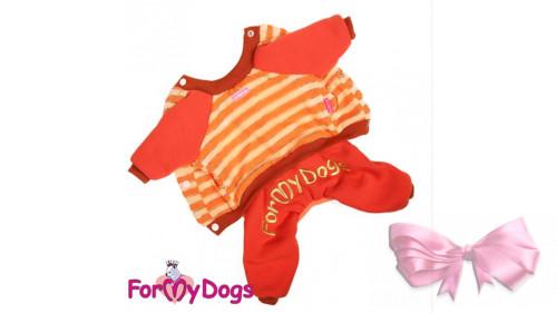 Костюм для собак ForMyDogs на меховой подкладке, оранж