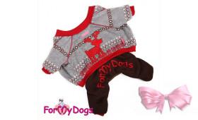 Костюм для собак ForMyDogs на меховом подкладе Олень