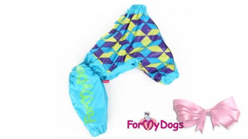 Дождевик ForMyDogs ромбик для девочки
