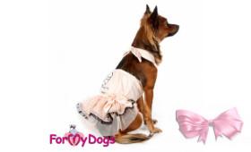 Сарафан для собак ForMyDogs розовый