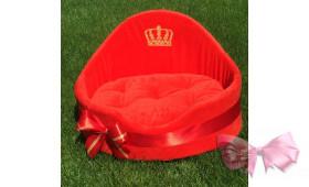 Лежак с именем Вашего любимчика) (красный)