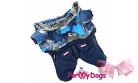 Комбинезон синий на мальчика For My Dogs