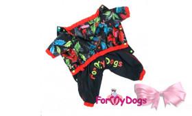 Дождевик черно/красный для девочек For My Dogs