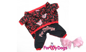 Дождевик ForMyDogs для собак Бабочки  для девочек