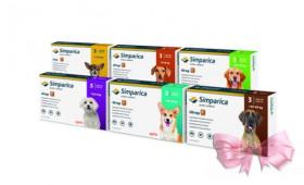 Zoetis (Зоэтис) SIMPARICA (СИМПАРИКА) жевательная таблетка от клещей и блох для собак
