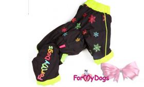 Утепленный дождевик For my dogs на девочку