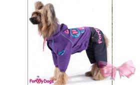 For My Dogs Костюм трикотажный, фиолетовый для девочек