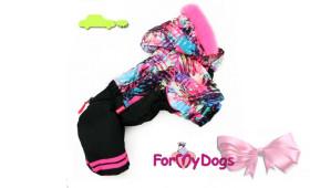 Комбинезон For my dog черно/розовый на девочек
