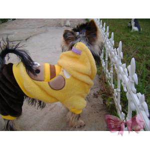 """Флисовый костюм """"Мишка"""" красный/желтый"""